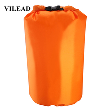 VILEAD Portable Multi-function Bag Air Inflation Pump Pillow Waterproof Ultralight for Inflatable Cushion Camping Mat Hiking Bag multi function air pump blue