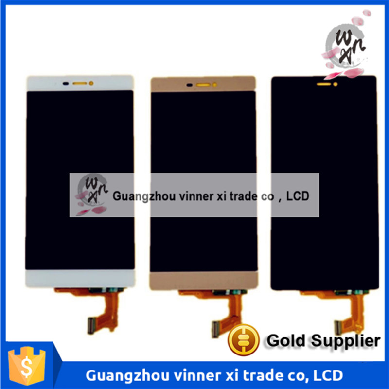 NEW Complete LCD Display Screen Touch Digitizer Replacement For Huawei Ascend P8 GRA-UL00/-UL10 GRA-L09 GRA-CL10/CL00 replacement original touch screen lcd display assembly framefor huawei ascend p7 freeshipping