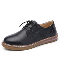 2018 spring new ladies leather shoes Korean fashion casual shoes flat shoes women