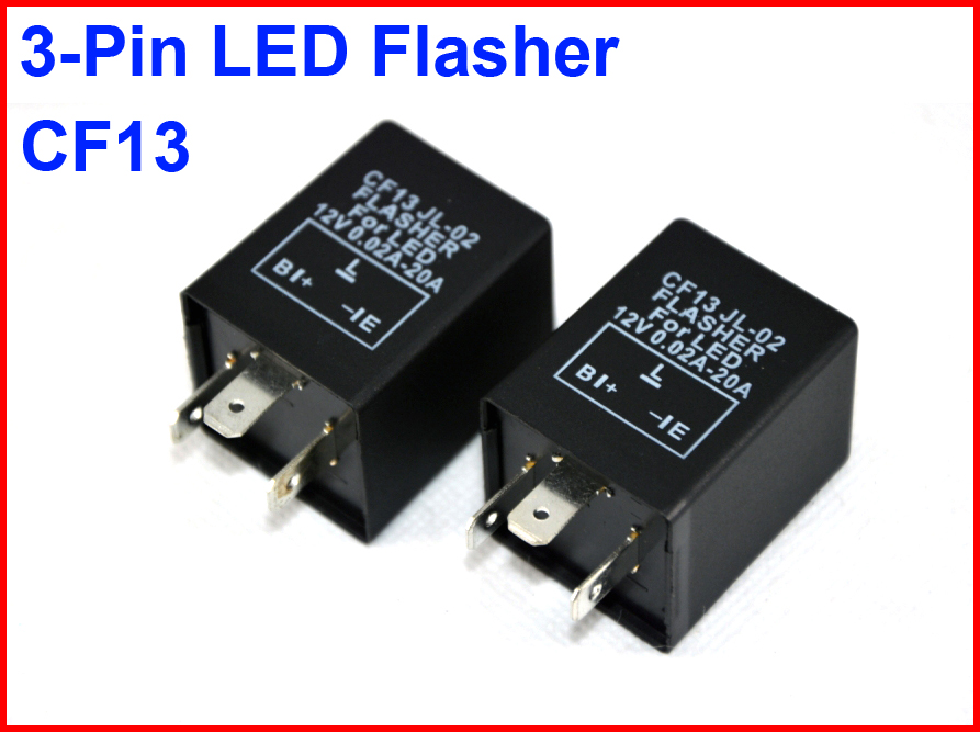 2PCS CF13 JL-02 LED Flasher 3 Pin Electronic Relay Module Fix LED SMD Turn Signal Light Error Flashing Blinker 12V 0.02A TO 20A
