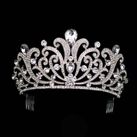 Luxury Wedding Bridal Crystal Tiara Crowns Princess Queen Pageant Prom Rhinestone Veil Tiara Headband Wedding Hair