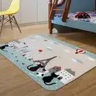 Детский ковер, нескользящий коврик для детской комнаты, коврик для спальни с мультяшным котом, коврик для ползания в гостиную, 130x185 см