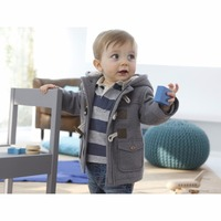 Y01 X327 Children Kid S Boys Clothing Long Sleeve Outdoor Autuman Winter Soft Horn Button Coat