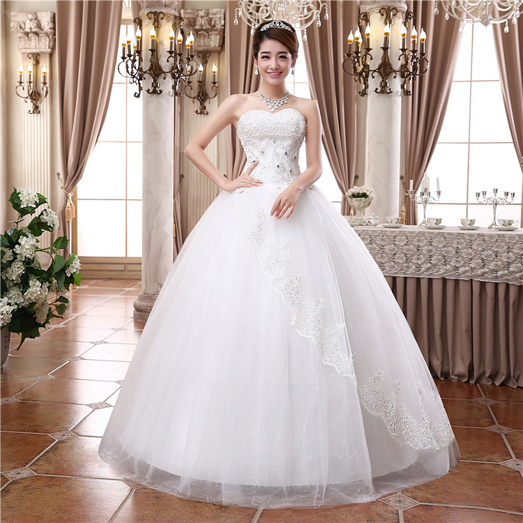 D34 Spring new bride wedding dress big size silm thin korean fashion ...
