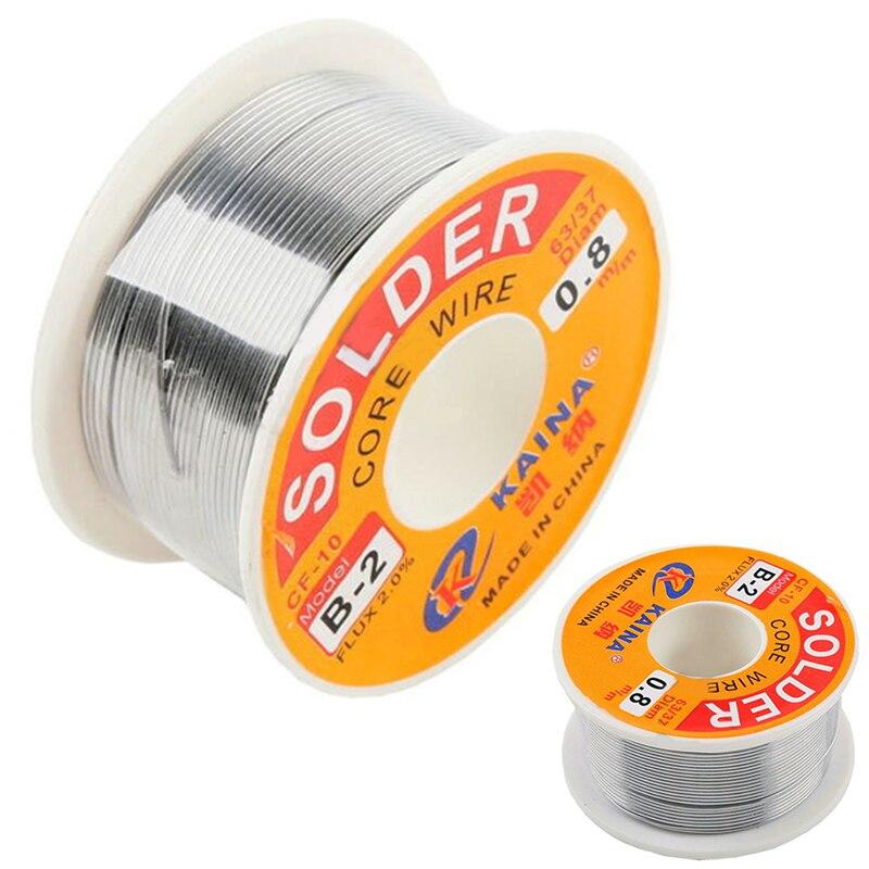 Высокое качество 63/37 канифоль ядро припой провода флюс 2% Оловянно-свинцовый припой железа сварочный провод катушка 0,5 мм-2,0 мм 100 г