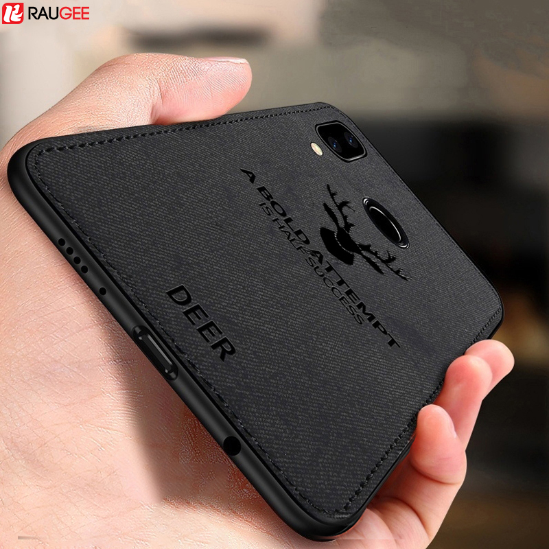 Raugee Case For Samsung Galaxy A40 Case Bumper Shockproof TPU Edge Soft Cloth Fabric Case Cover For Samsung Galaxy A40 A 40 Case