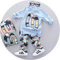 2017 New Spring baby boys clothing set fashion style high quality boys clothes full sleeve with letter M print A057
