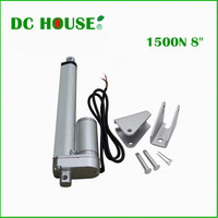 DC HOUSE 2PCS 200mm stroke 12V DC electric linear actuator with stell mounting brackets solar tracker 1500N=150KG load