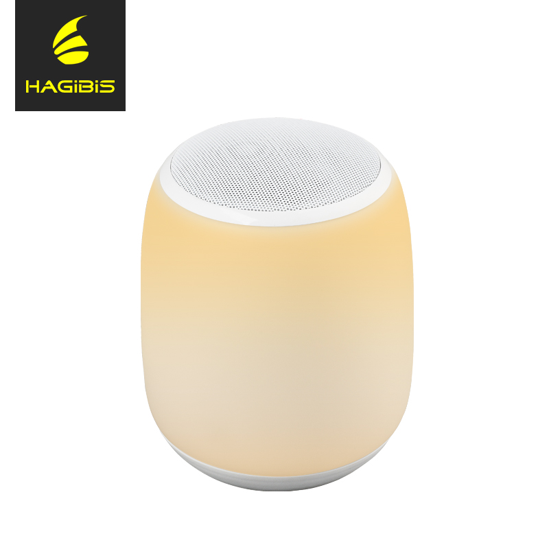 Hagibis Bluetooth Speaker with Colorful Touching 3D Stereo Sound LED Light Lamp Music Player Bluetooth Speaker Support USB TF