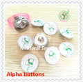 2017 newest AKA ivy lady charm snap fraternity sorority Alpha 18mm alloy base DIY glass pic button 20pcs/lot,ONC027-1