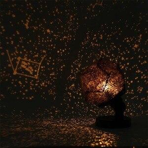 Image 3 - Celeste Star Della Proiezione del Cielo Cosmo Luci Notturne Lampada Del Proiettore Di notte Star Camera Da Letto Romantica Decorazione Di illuminazione Batteria AA