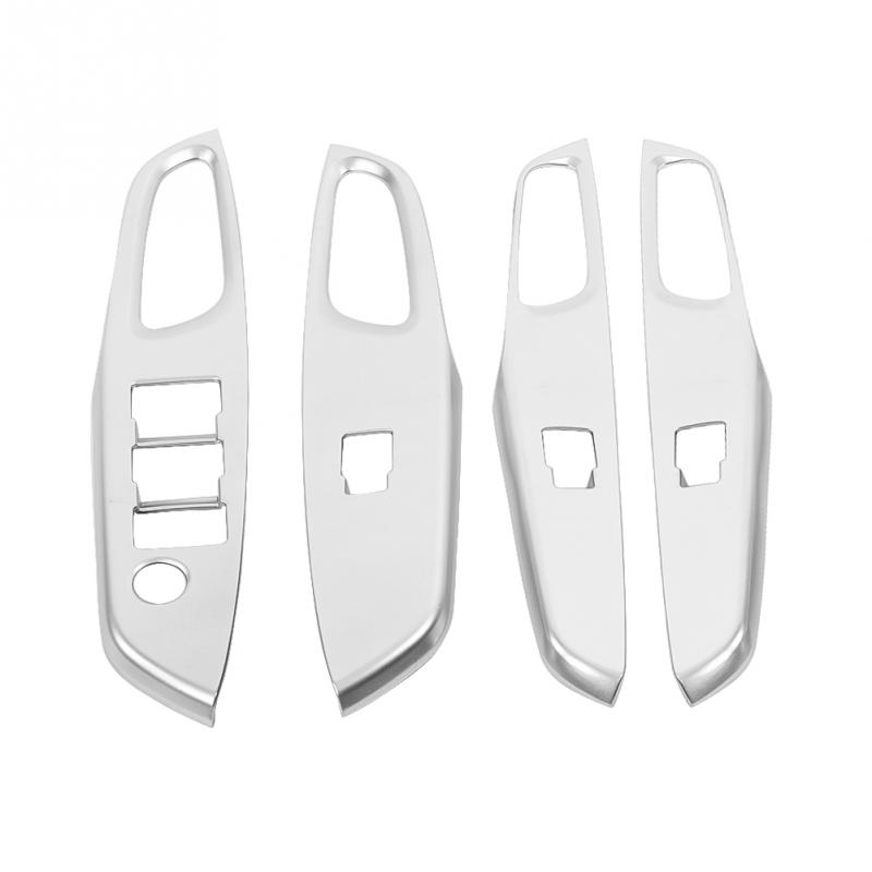 4Pcs Car Styling Cover door Window Lifting Switch Panel Frame Cover for Toyota Yaris VIOS XP150