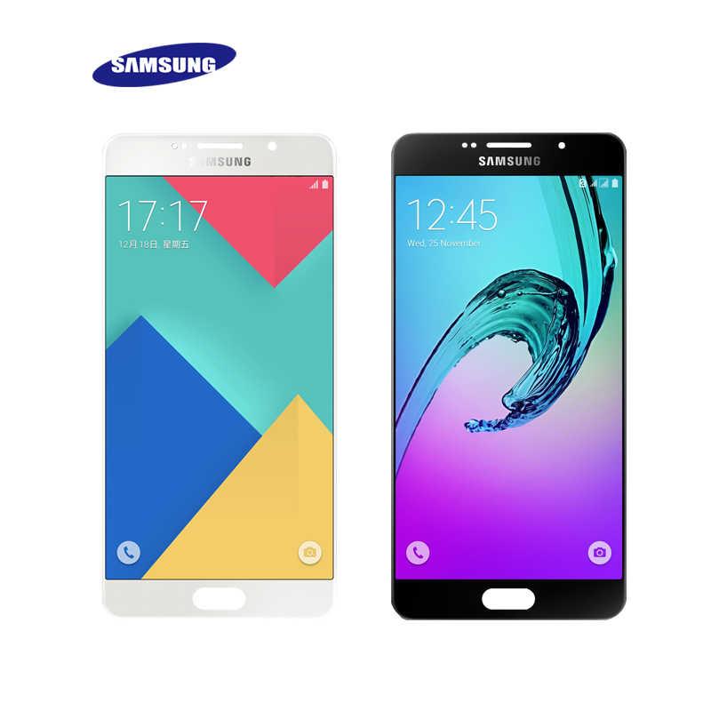 """لسامسونج غالاكسي A7 2016 A710 LCD محول الأرقام بشاشة تعمل بلمس مكون استبدال ل 5.5 """"سامسونج A710 بالسعة الشاشة"""