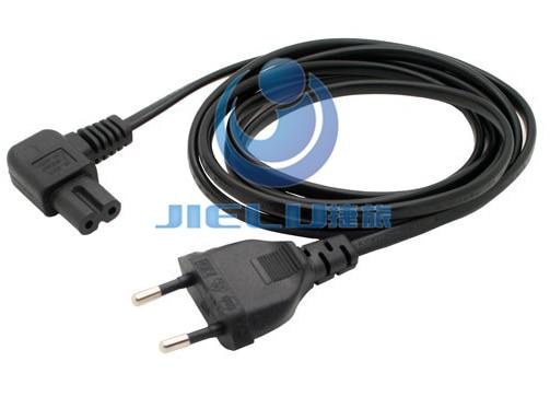 цена 1 pcs IEC 320 C7 power cord European regulation LCD TV elbow 8 word power cord hanging wall TV power cord,6.6ft