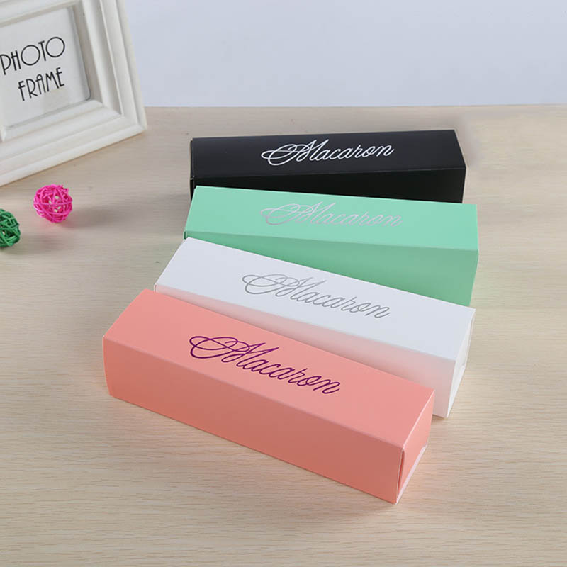 Macaron Packing Box Beautifully Packaged Wedding Party Cake Storage Biscuit Paper Box Cake Decoration Baking Accessories in Gift Bags Wrapping Supplies from Home Garden