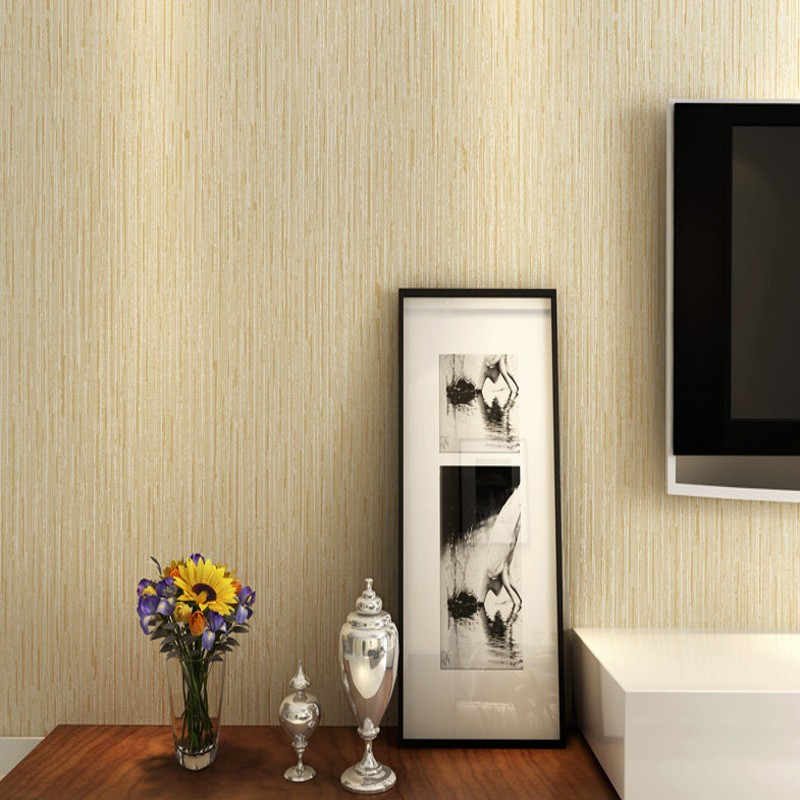Free Shipping Modern plain wood grain bedroom living room study wallpaper dark gray fabric vertical foot bath shop wallpaper now grain free