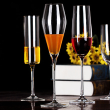 Transparent Crystal glass Cup Champagne Beer Wine Lead-free goblet Glasses Bar Party Red Glass Flutes