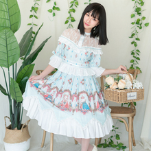 Sweet Lolita Fairy Dress Jsk Skirt Gothic Dress  Strawberry Halloween Lolita  Princess Christmas  victorian dress все цены