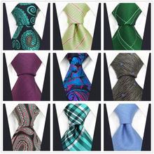 Blue Grey Ties for Men Classic Paisley Necktie