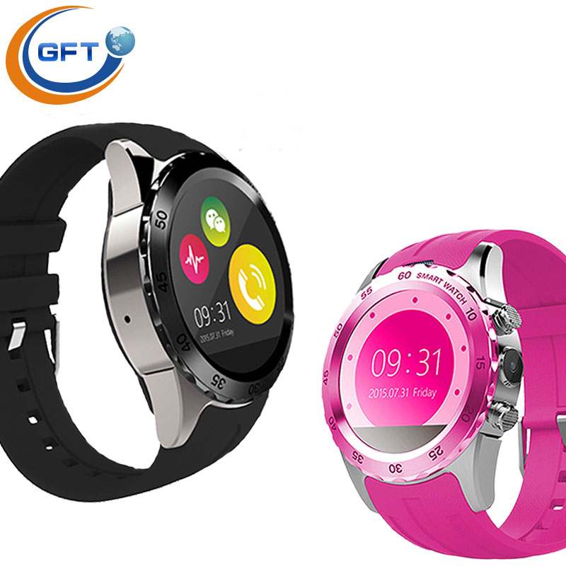 GFT KW08 Android system 1 22inch business style watch gsm waterproof with camera font b smartwatch