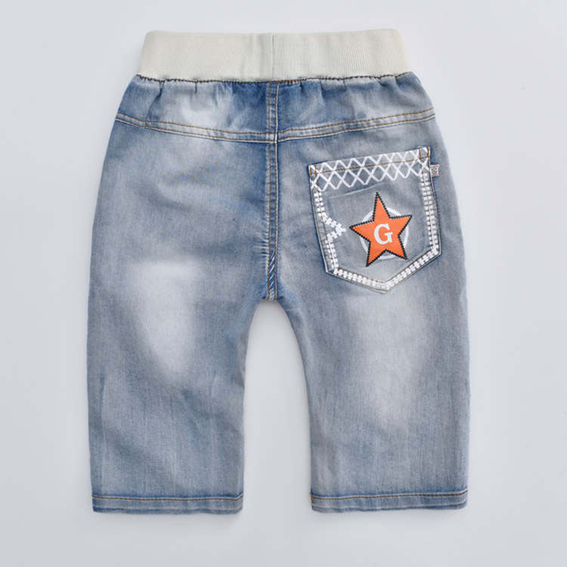 2020 hot summer design light blue star print kid short pants boys shorts elegant jeans denim shorts for teen children 3-13 years 3