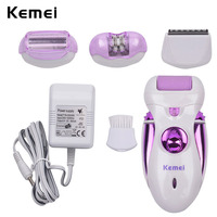 4 In 1 Electric Feet Care Tool Callus Remover Feet Pedicure Kit Rechargeable Lady Epilator Hair