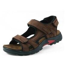 Top quality sandal 2017 men sandals summer genuine leather sandals men outdoor shoes men leather sandals plus size 46 47 48