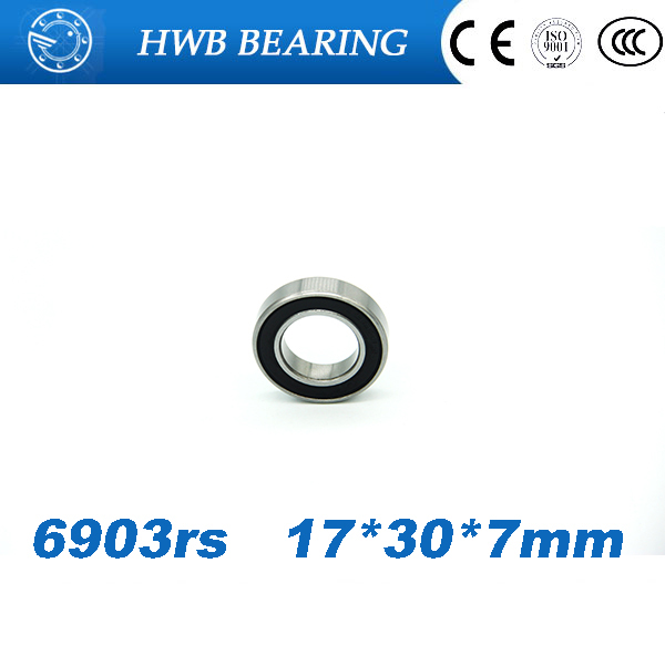 2Pcs 6903-2RS 6903 RS  61903-2RS Deep Groove Ball Bearings 17 x 30 x 7mm Free shipping gcr15 6326 zz or 6326 2rs 130x280x58mm high precision deep groove ball bearings abec 1 p0