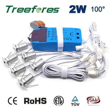 Затемнения 6 шт./компл. + Драйвер + кабели 2 Вт 180Lm 80Ra гостиничный шкаф дисплей освещение для витрины 15 мм мини светодиодная лампа свет >> Shop1483295 Store