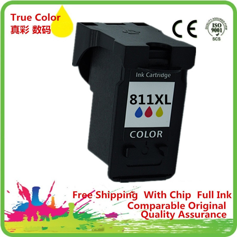 Ink <font><b>Cartridge</b></font> Remanufactured For <font><b>Canon</b></font> CL <font><b>811</b></font> 811C 811XL CL-<font><b>811</b></font> CL811 CL-811XL CL811XL Pixma iP2770 iP2772 MP237 MP245 MP258 MP2 image