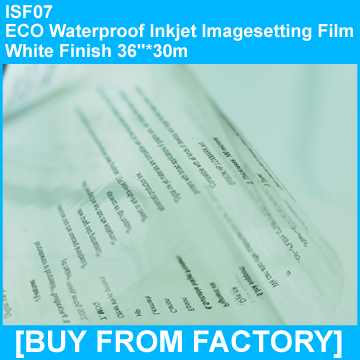 """Transparent ECO PET Waterproof Inkjet Screen Printing Film 36""""*30m"""
