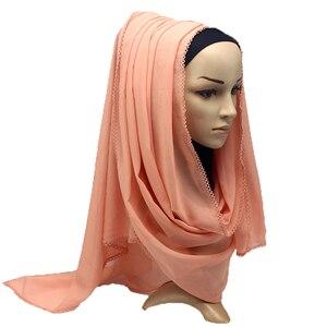 Image 5 - الثقيلة وشاح شيفون رمش النساء التفاف شالات عادي طويل عقال الحجاب 180*75 سنتيمتر