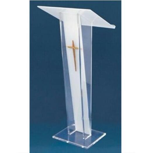 Acrylic Church Pulpit Speech Lectern Reception Desk Free Shiping Plexiglass Acrylic Conference Podium Clear Speaker's Lectern