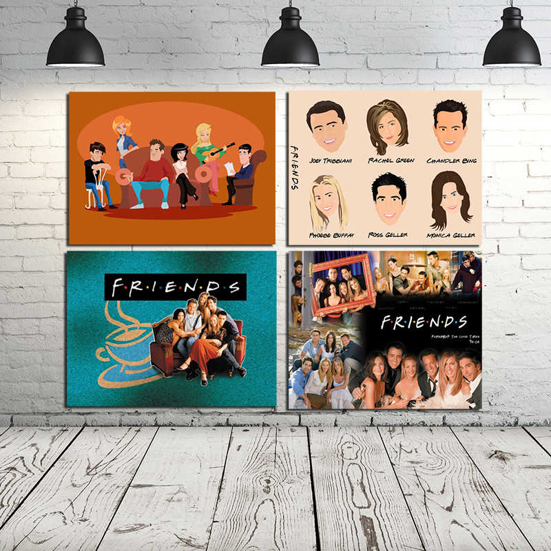 Friends TV Show HD Wallpaper Wall Art Canvas Posters Prints Painting Oil Wall Pictures For Bedroom Modern Home Decor Accessories