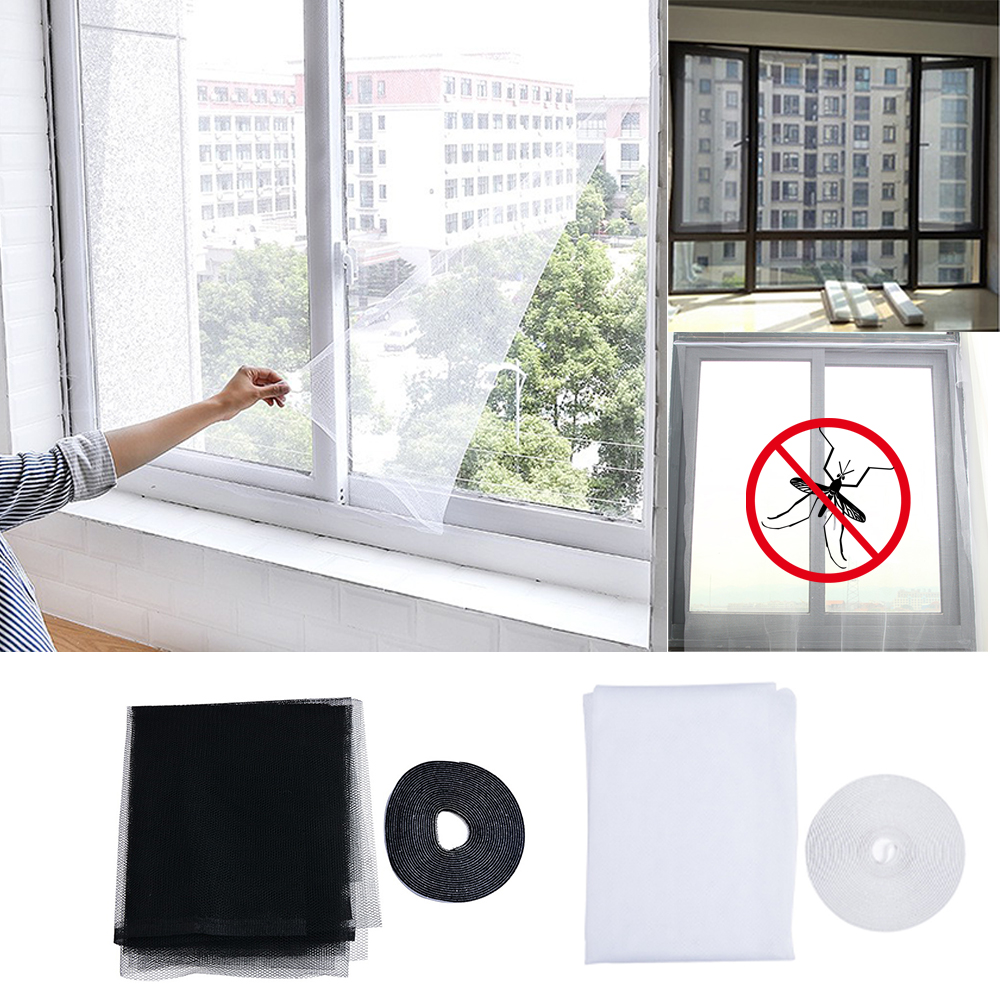 1/2/5pcs 1.3*1.5M DIY Window Screen Summer Anti-Mosquito Window Mosquito Net Invisible Fiberglass Net With Magic Sticker
