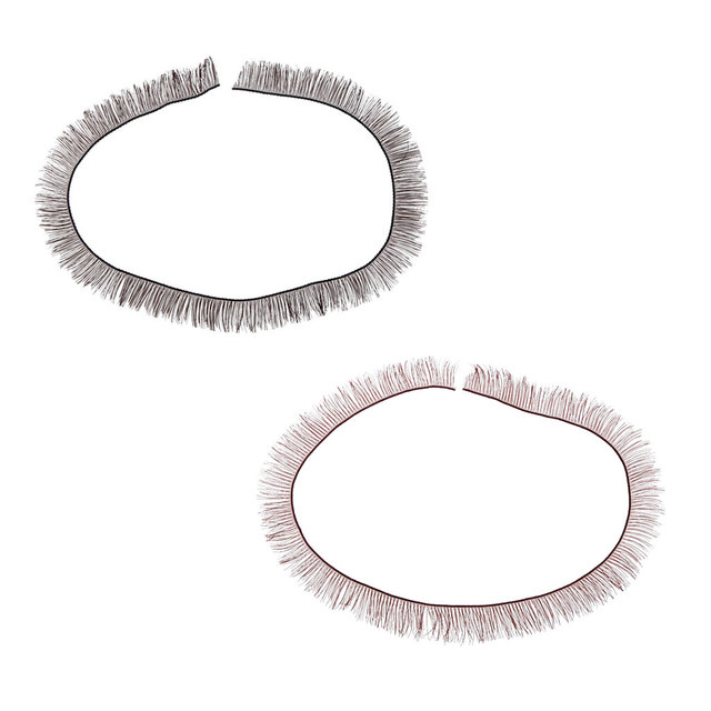 Wholesale 1Pc Universal Cute 200 x 8 mm Charming BJD SD Dolls Big Pretty Eye Make Up Eyelashes Strip Essential Doll Accessory