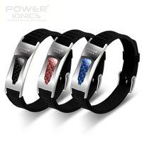 New Power Ionics 3000ions Titanium Ge F I R Carbon Fiber Bio Bracelet Wristband
