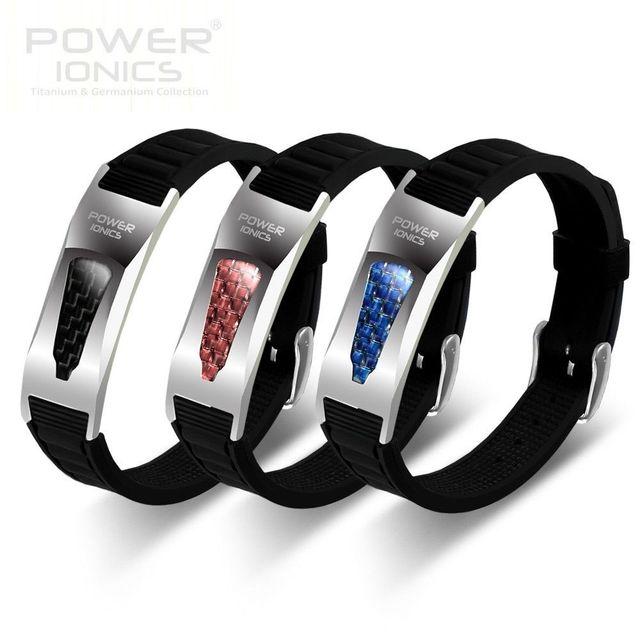 Power Ionics 3000ions/cc Full Throttle Titanium Germanium F.I.R Carbon Fiber Bio Golf Watch Bracelet-Limited Edition Arrival