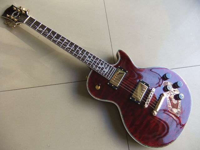 Free Shipping LP Custom Shop Electric Guitar Flame Maple Top Abalone Inlay And Binding In Wine Bordeaux Burst 101122 все цены