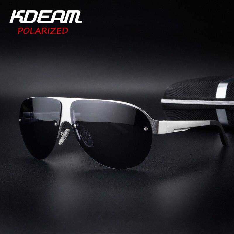 1bba5117a030b Kdeam exercício óculos de sol dos homens óculos polarizados de proteção uv  óculos de sol moda de alta qualidade da marca cool designer driving óculos  piloto ...