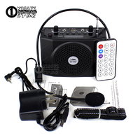 Portable Amplifier Megaphone Mini Speaker USB Wireless FM Radio MP3 Player Loudspeaker With Mic For Teaching