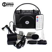 Draagbare Versterker Audio Megafoon Mini Speaker Draadloze Radio FM USB Player Luidspreker Met Mic Voor Teaching Toespraak Gids