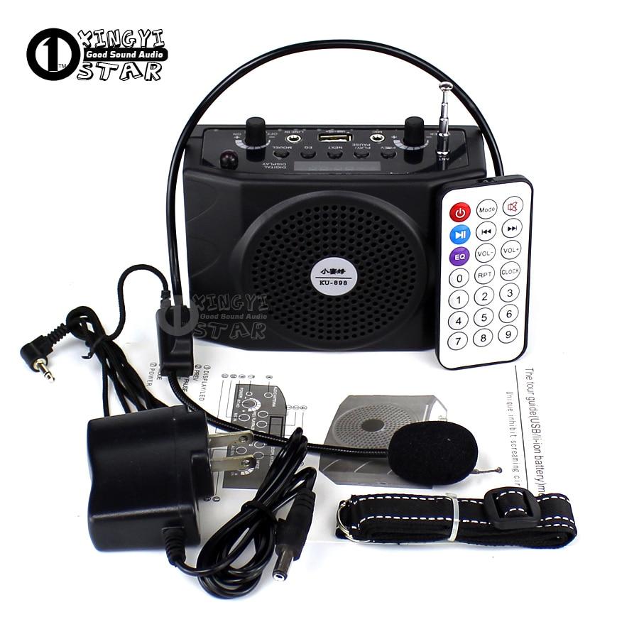 Přenosný zesilovač Audio Megafon Mini reproduktor Bezdrátový rádio FM přehrávač USB reproduktor s mikrofonem pro výuku řeči průvodce  t