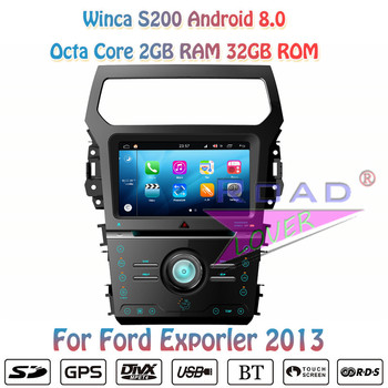 Winca S200 Android 8.0 Car DVD Automotive Player Autoradio For Ford Exporler 2013 Stereo GPS Navigation Magnitol 2 Din Octa Core