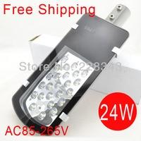 Free Shipping Sale AC85 265V 24W Led Street Light IP65 Epistar 1200 1300LM LED Led Street