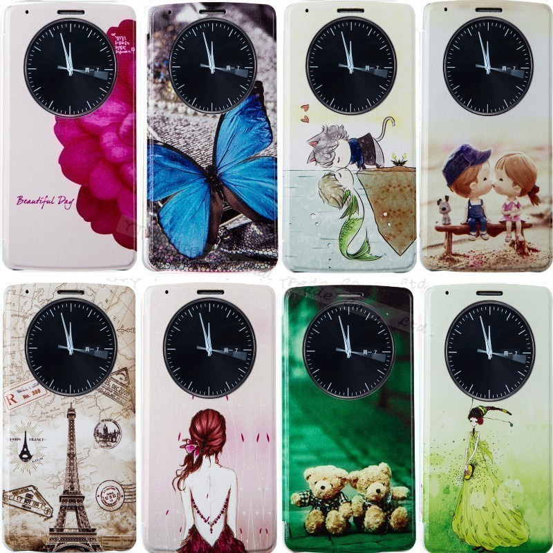 G3 Flip Leather Cases Cover Battery Quick Circle Case Sleep Function For LG G3 Optimus G3