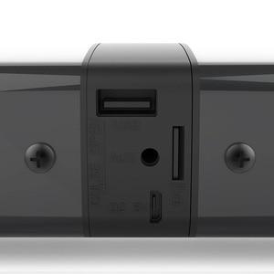 Image 3 - Bluetooth haut parleur Support électrique TF carte PVC son Blaster fendu stéréo Audio pliable TV en plein air théâtre barre de son maison