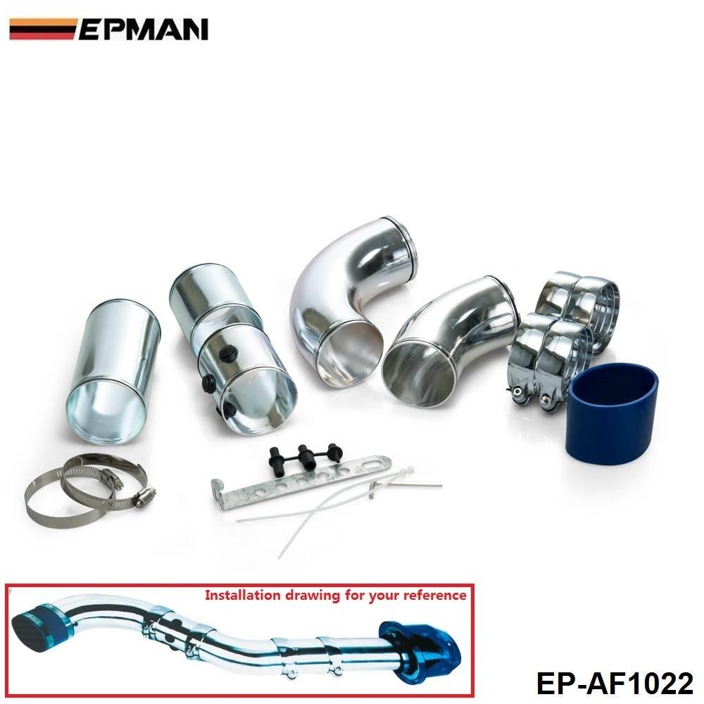 Регулируемая универсальная воздухозаборная труба/Универсальный пятиступенчатый алюминиевый сплав комплект впускной трубы для BMW E36 325 328 EP-AF1022