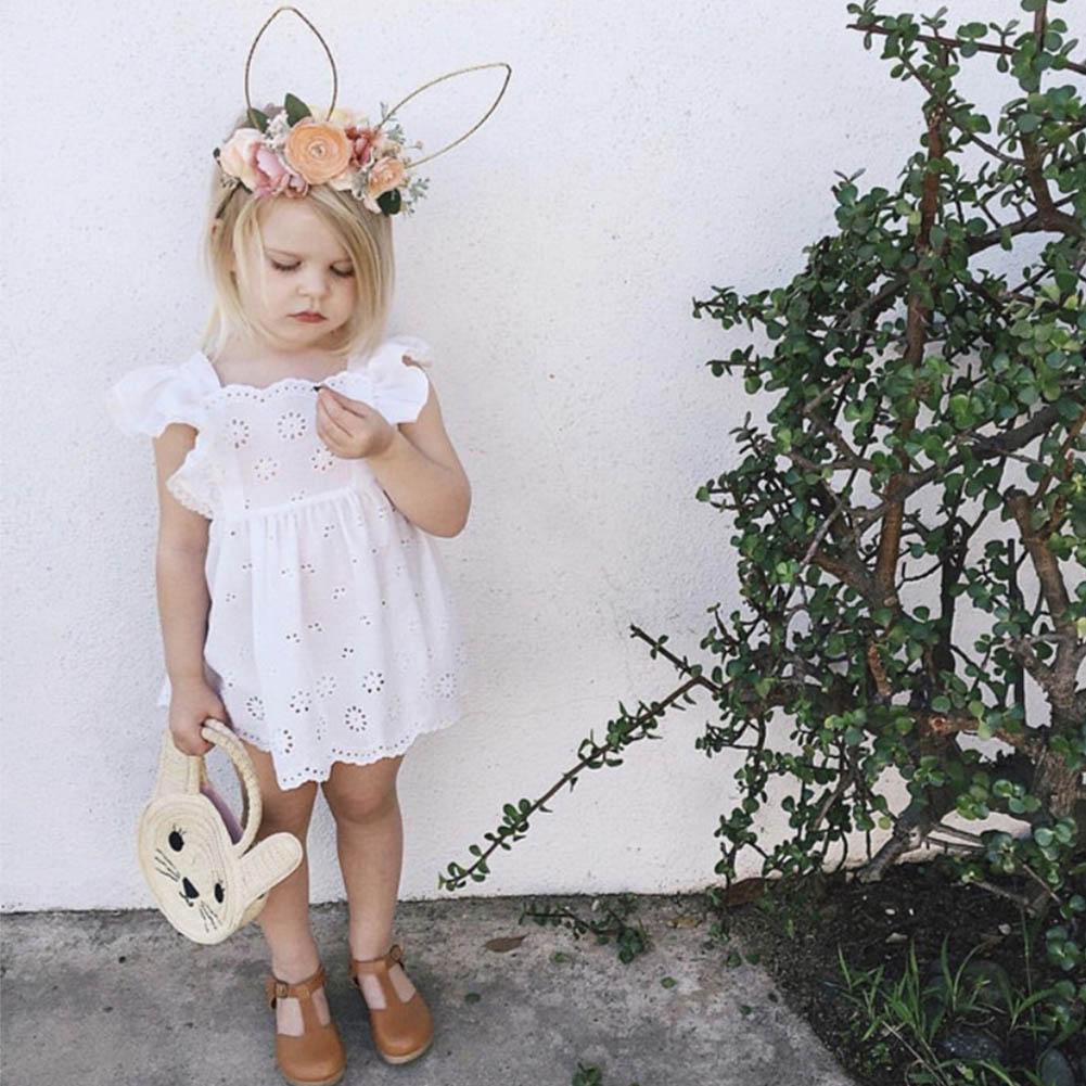 2019 New Adorable Baby Girl Headband Wire Bunny Rabbit Ear Rose Hairband Holiday Costume