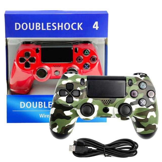 Wired Gamepad wireless Bluetooth controller Playstation Sony PS4 Controller Joystick Joypad for DualShock 4 Vibration Joystick